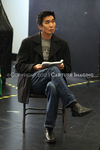 """1206174-047    LOS ANGELES, CA - JUNE 8: The rehearsal of """"Council"""" by Padraic Duffy at the Center Theatre Goup annex on June 8, 2012 in Los Angeles, California. (Photo by Ryan Miller/Capture Imaging)"""