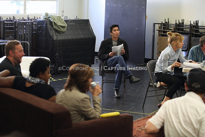 """1206174-045    LOS ANGELES, CA - JUNE 8: The rehearsal of """"Council"""" by Padraic Duffy at the Center Theatre Goup annex on June 8, 2012 in Los Angeles, California. (Photo by Ryan Miller/Capture Imaging)"""