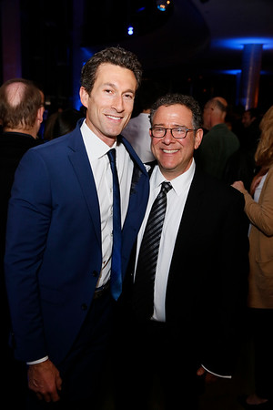 "From left, cast member Aaron Lazar and director Michael Greif at the party for the opening night performance of ""Dear Evan Hansen"" at Center Theatre Group/Ahmanson Theatre on October 19, 2018, in Los Angeles, California. (Photo by Ryan Miller/Capture Imaging)"