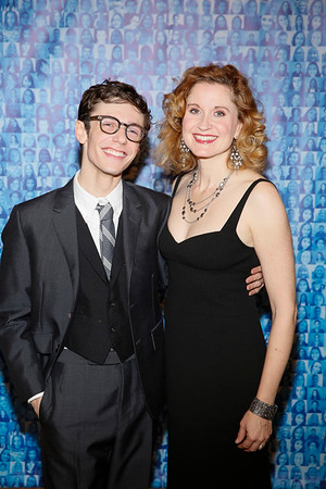 "Cast members Ben Levi Ross and Christiane Noll at the party for the opening night performance of ""Dear Evan Hansen"" at Center Theatre Group/Ahmanson Theatre on October 19, 2018, in Los Angeles, California. (Photo by Ryan Miller/Capture Imaging)"