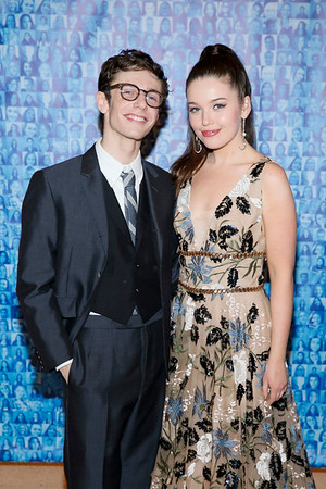 "Cast members Ben Levi Ross and Maggie McKenna at the party for the opening night performance of ""Dear Evan Hansen"" at Center Theatre Group/Ahmanson Theatre on October 19, 2018, in Los Angeles, California. (Photo by Ryan Miller/Capture Imaging)"
