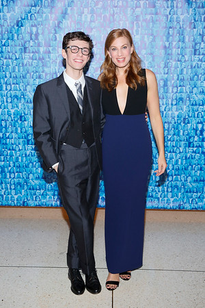 "Cast members Ben Levi Ross and Jessica Phillips at the party for the opening night performance of ""Dear Evan Hansen"" at Center Theatre Group/Ahmanson Theatre on October 19, 2018, in Los Angeles, California. (Photo by Ryan Miller/Capture Imaging)"