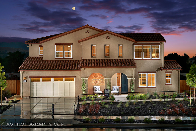 Lantana Models by Cal Atlantic Homes, Morgan Hill, CA, 5/10/17..