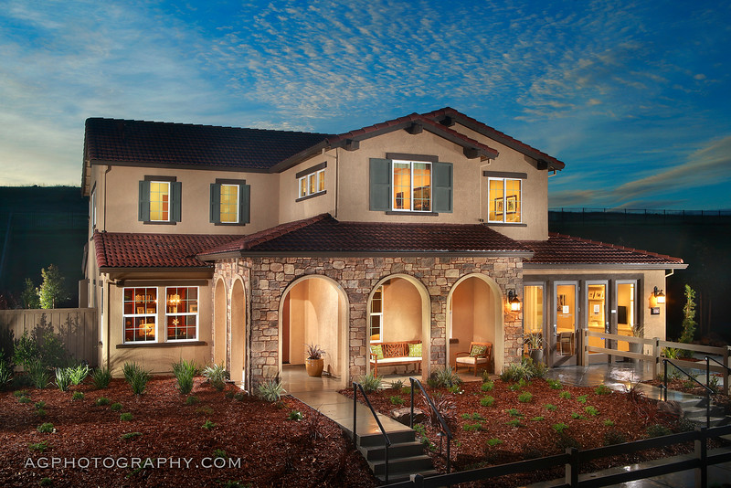 Sierramonte Models by CAL Atlantic Homes, El Dorado Hills, CA, 12/14/16.