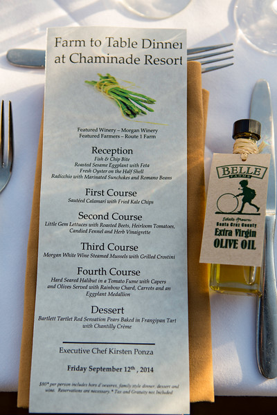 Chaminade Resort and Spa Farm to table wine dinner - September 2014-1