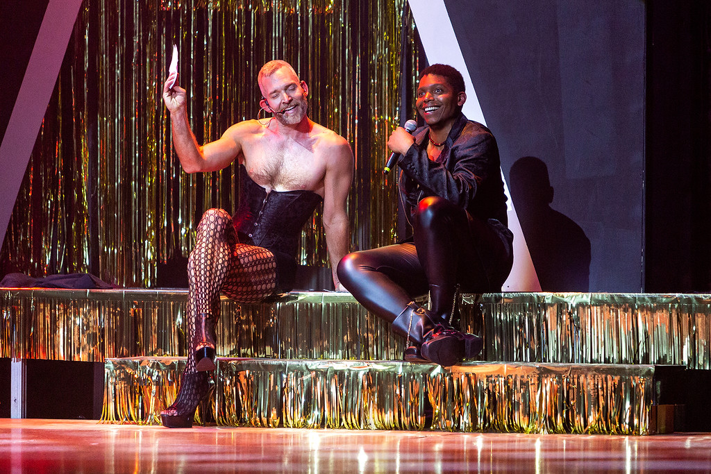 "Matthew Hollis (L) and JC Brooks perform with the Chicago Tap Theatre in 'Tapped for the Very First Time"" at the Athenaeum Theatre on Saturday, June 23, 2018. (David Harmantas)"