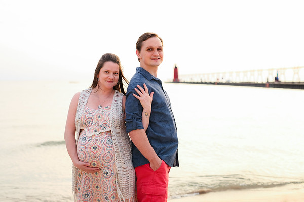 South Haven Beach Maternity West Michigan Lake