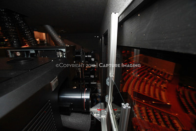 1204103-029     LAS VEGAS - APRIL 25: The CinemaCon Projection Booth during the 2012 CinemaCon Convention held at Caesars Palace on April 25, 2012 in Las Vegas, Nevada.  (Photo by Ryan Miller/Capture Imaging)