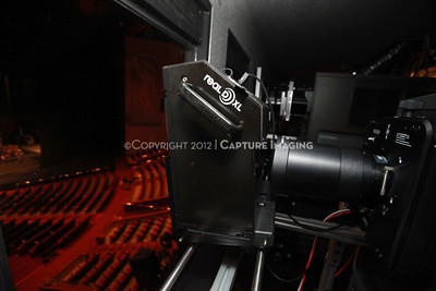 1204103-009     LAS VEGAS - APRIL 25: The CinemaCon Projection Booth during the 2012 CinemaCon Convention held at Caesars Palace on April 25, 2012 in Las Vegas, Nevada.  (Photo by Ryan Miller/Capture Imaging)