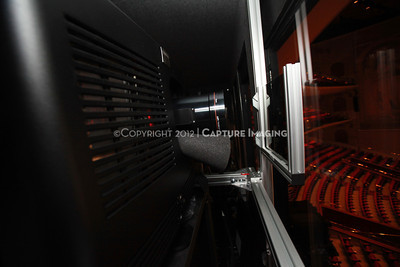 1204103-022     LAS VEGAS - APRIL 25: The CinemaCon Projection Booth during the 2012 CinemaCon Convention held at Caesars Palace on April 25, 2012 in Las Vegas, Nevada.  (Photo by Ryan Miller/Capture Imaging)