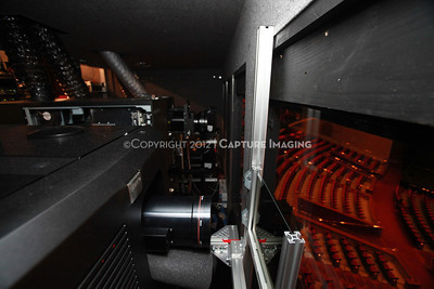 1204103-028     LAS VEGAS - APRIL 25: The CinemaCon Projection Booth during the 2012 CinemaCon Convention held at Caesars Palace on April 25, 2012 in Las Vegas, Nevada.  (Photo by Ryan Miller/Capture Imaging)