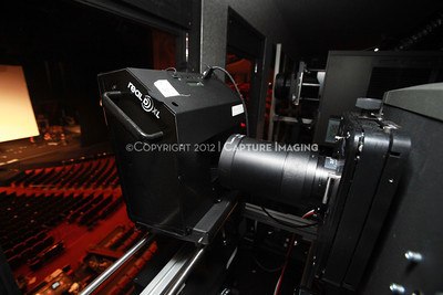 1204103-011     LAS VEGAS - APRIL 25: The CinemaCon Projection Booth during the 2012 CinemaCon Convention held at Caesars Palace on April 25, 2012 in Las Vegas, Nevada.  (Photo by Ryan Miller/Capture Imaging)