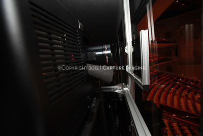 1204103-021     LAS VEGAS - APRIL 25: The CinemaCon Projection Booth during the 2012 CinemaCon Convention held at Caesars Palace on April 25, 2012 in Las Vegas, Nevada.  (Photo by Ryan Miller/Capture Imaging)
