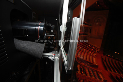 1204103-024     LAS VEGAS - APRIL 25: The CinemaCon Projection Booth during the 2012 CinemaCon Convention held at Caesars Palace on April 25, 2012 in Las Vegas, Nevada.  (Photo by Ryan Miller/Capture Imaging)