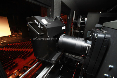 1204103-010     LAS VEGAS - APRIL 25: The CinemaCon Projection Booth during the 2012 CinemaCon Convention held at Caesars Palace on April 25, 2012 in Las Vegas, Nevada.  (Photo by Ryan Miller/Capture Imaging)