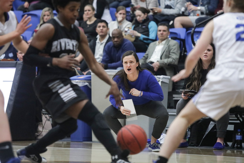 Fremont Fremont head coach Lisa Dalebout guides her team in the second half against Riverton during the UHSAA 6A Girls State Basketball Tournament on Thursday, Feb. 22, 2018, at Salt Lake Community College in Taylorsville. Fremont went on to defeat Riverton, 48-46.