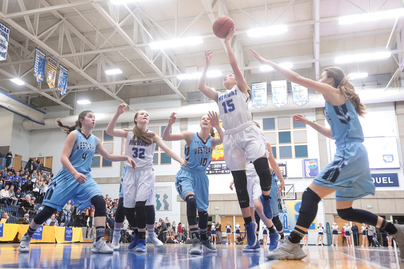 Fremont battles Westlake during the UHSAA 6A Girls State Basketball Tournament on Friday, Feb. 23, 2018, at Salt Lake Community College in Taylorsville. Fremont went on to defeat Westlake, 54-50, in overtime.