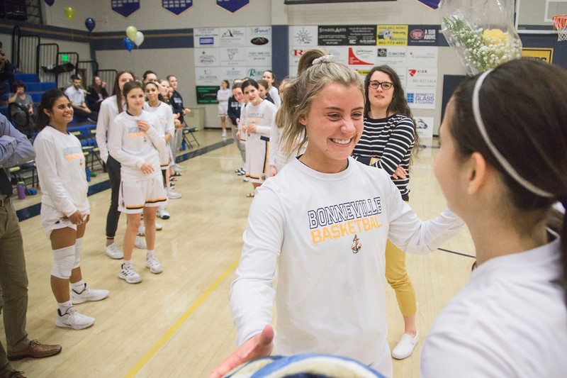 Bonneville defeated Juan Juan Diego winning the 4A Girls Region 11 title on Tuesday, Feb. 20, 2019, at the Bonneville High School in Washington Terrace.