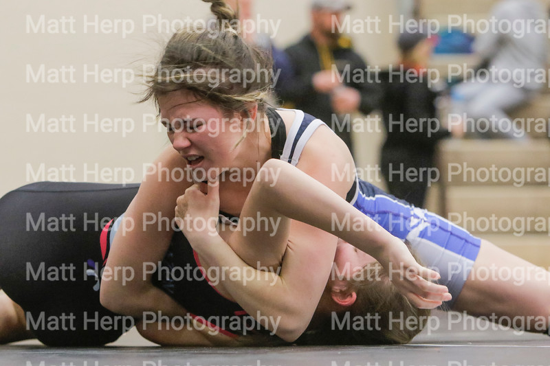 Hannah Dupuy competes in the Amazonian Battle Series girls wrestling tournament on Saturday, Feb. 23, 2019, at the Northridge High School in Layton.