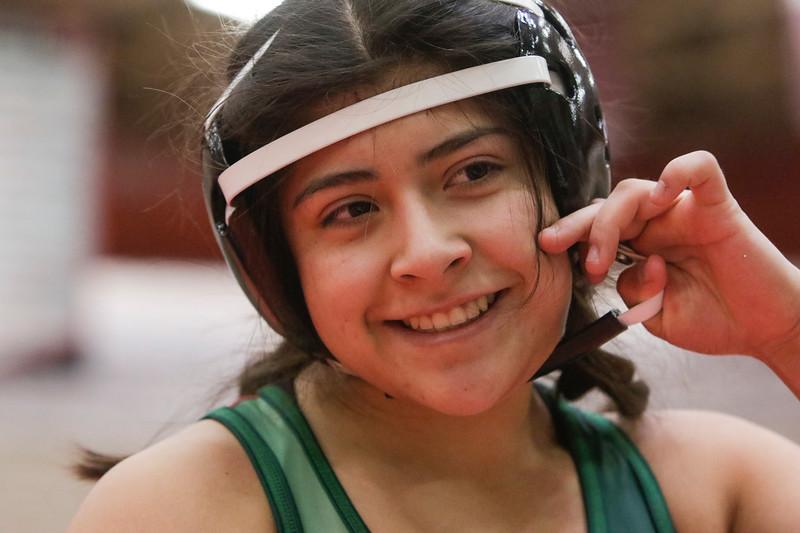 Lita Cruz competes in the Amazonian Battle Series girls wrestling tournament on Saturday, Feb. 23, 2019, at the Northridge High School in Layton.