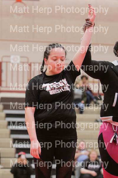 Moms compete in the Amazonian Battle Series girls wrestling tournament on Saturday, Feb. 23, 2019, at the Northridge High School in Layton.