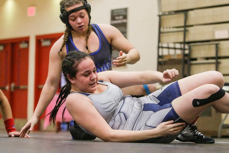 Nayeli Huerta competes in the Amazonian Battle Series girls wrestling tournament on Saturday, Feb. 23, 2019, at the Northridge High School in Layton.