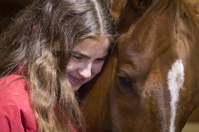 Alex Johnson and her horse Rascal