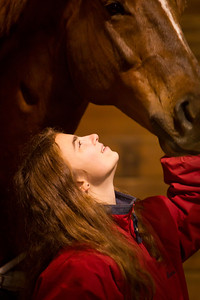 Alex Johnson and her horse Rascal