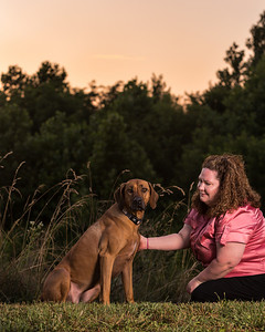 Amber and her rhodesian ridgeback named Maggie on 6.18.2012