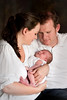 Kris and Miranda Gardiner baby Claudia portrait