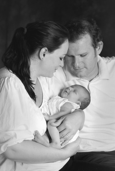 Kris and Miranda Gardiner baby Claudia portrait