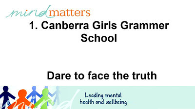 1. Canberra Girls Grammer School - Dare to face the truth