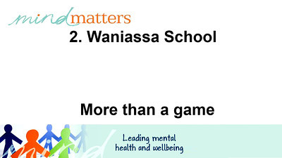 2. Wanniassa School - More than a game