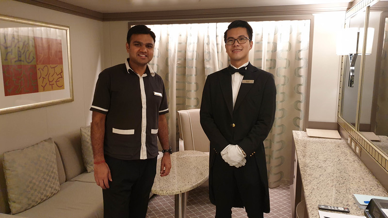 Murli my attendant and Francis my butler attended to my every need - photo Geoff East