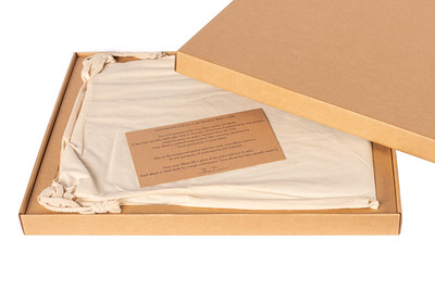 Premium photo album with a hand crafted presentation box and storage bag.