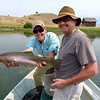 Guide Justin Bolduc and his father Wally with a nice Paradise Valley rainbow.