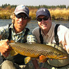 Brian and Michael Harned with the fish of the day... <br /> Photo: Mike Cecil