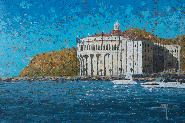 053 Casino from Descanso Bay 24x36