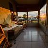 Porch with a nice view of the sunset