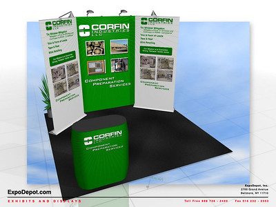 Corfin Industries, Burst 2x3 with Supreme Bannerstand Rendering