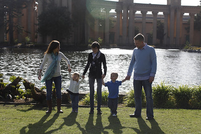 Kassandra, Jack and kids in San Francisco, CA on March 4, 2013
