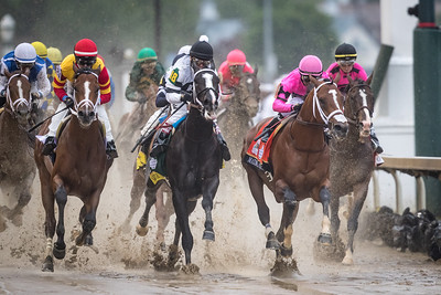 maximum security goes by the first time in the kentucky derby
