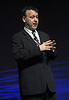 LAS VEGAS, NV - APRIL 24:  Director Sam Raimi speaks onstage at Caesars Palace during CinemaCon, the official convention of the National Association of Theatre Owners, April 24, 2012 in Las Vegas, Nevada.  (Photo by Ryan Miller/Capture Imaging)