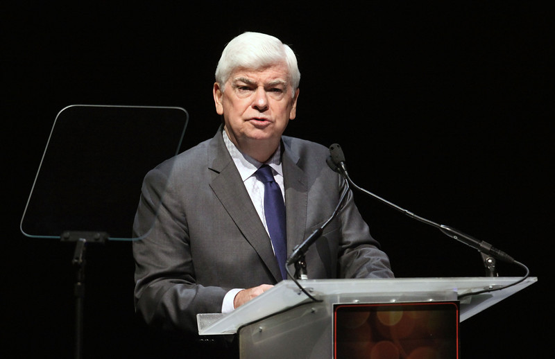LAS VEGAS, NV - APRIL 24:  Chairman and CEO of the Motion Picture Association of America Chris Dodd speaks onstage at Caesars Palace during CinemaCon, the official convention of the National Association of Theatre Owners, April 24, 2012 in Las Vegas, Nevada.  (Photo by Ryan Miller/Capture Imaging)