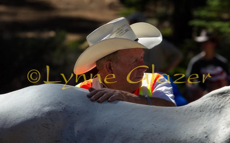 Jim Baldwin DVM pauses during vet-in at Robie Park.