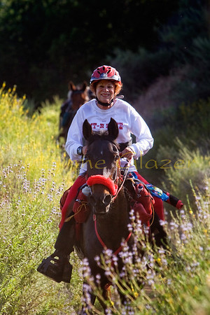 Susan Friedman is a retired teacher, and was also late to the sport--she mostly top tens and has made up for lost time!  This was taken at the last Malibu ride.