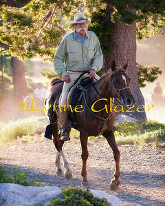 Hall of Fame rider Crockett Dumas on one of his great mares.