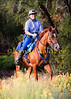 Heidi Helly at the Big Bear ride, near the Coon Creek Jump Off.  She mentors riders and trains horses in Valley Center, San Diego County.  She fits Specialized Saddles too.  She's wearing Evelyn's gear as well.