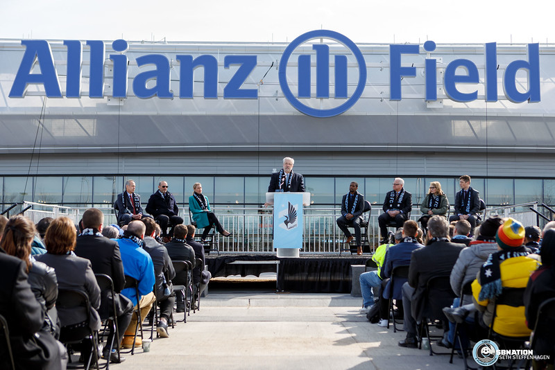 MLS 2019:  Allianz Field Scarf Raising Ceremony - March 18, 2019