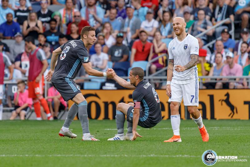 MLS 2019:  Minnesota United vs San Jose Earthquakes - July 3, 2019
